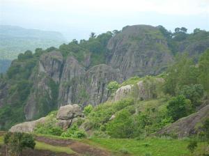 Batuan bekas Gunung Berapi aktif