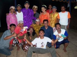 Team Teater setelah melakukan pentas