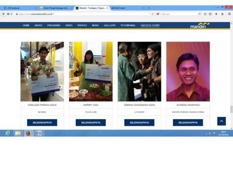 Sugeng handoko Masuk dalam Sukses Story mengikuti Lombanya Bank Mandiri